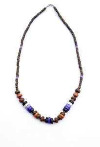 Indianerkette-aus-Peru-Halskette-aus-Naturmaterial-Herrenkette-Neu-Naturstein