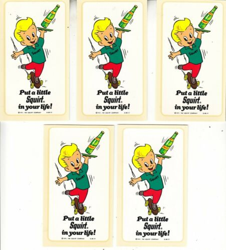 SQUIRT 6 PACK CARRIER /& 5 PUT A LITTLE SQUIRT IN YOUR LIFE DECALS 1977