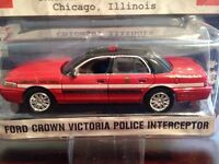 Greenlight 1/64 Ford Crown Victoria - Red/blk - Hot Pursuit 13 Chicago Fire Dept
