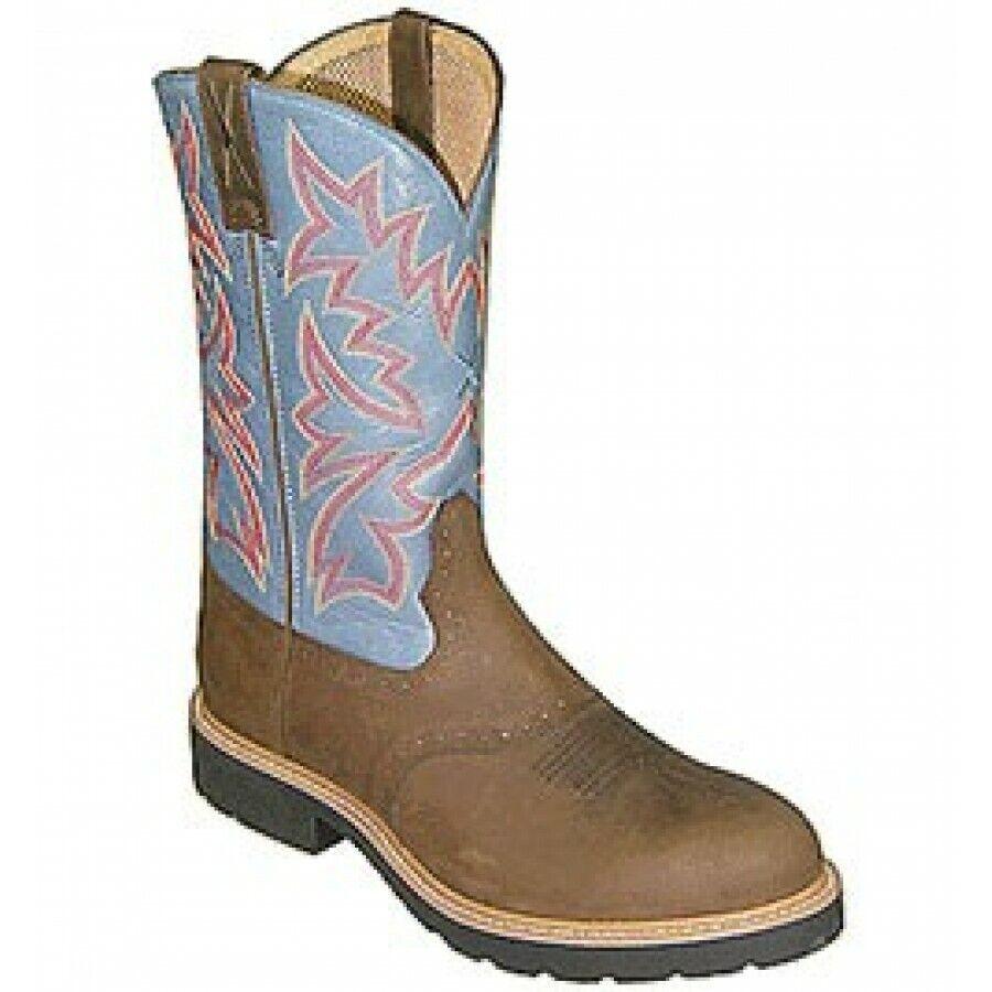 Twisted X mens vaquero work botas señores botas de vaquero tamaño 10 distressed Saddle
