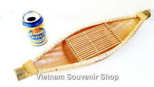 Handmade Bamboo Boat art model -Vietnam traditional Ship - for Home decor