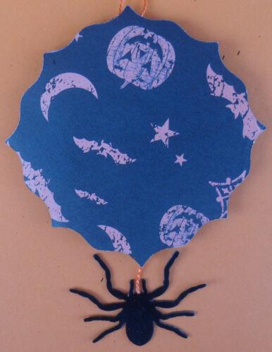 Wild German face /& SPIDER vintagey Halloween Tree ornament