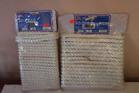 2 Sea Bowld Nylon Dock Line Nip 25ft Each 1/2 & 3/8