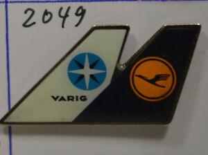 Varig Pin Badge 3,5 X 2 Cm Herrlich Lufthansa an2049 Diversifiziert In Der Verpackung