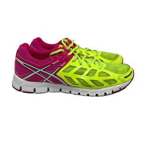 Asics-Gel-Lyte-33-Running-Shoes-Women-s-Size-8-5-Pink-Neon-Yellow-T2H7N-CJ6