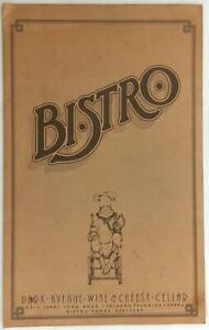 1977-Original-Menu-Park-Avenue-Wine-amp-Cheese-Cellar-BISTRO-Orlando-Florida