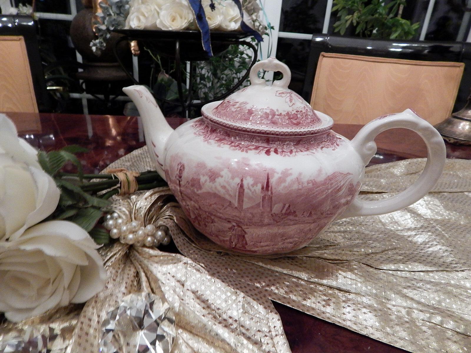 Edle große Teekanne 1 1 Liter  Villeroy & Boch Boch Boch Burgenland Rot top 20a8e3