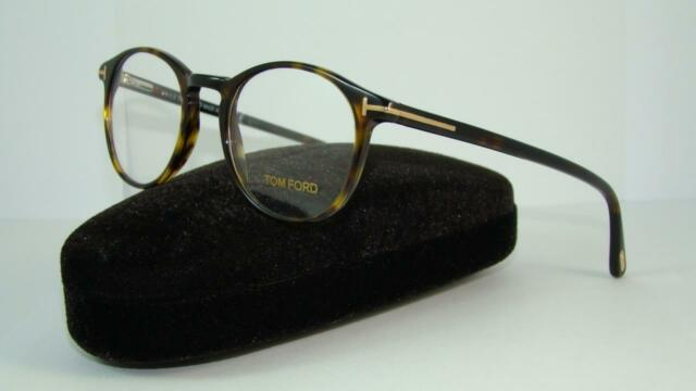 38f9eabbe4 TOM FORD TF 5294 052 Dark Havana Round Glasses Frames Eyeglasses Size 48