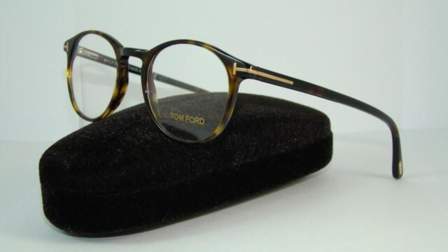 a87a4a29038 TOM FORD TF 5294 052 Dark Havana Round Glasses Frames Eyeglasses Size 48