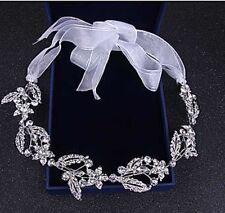 Bridal Wedding Silver Crystal Prom Party Crown Tiara Hairband Headband Headpiece