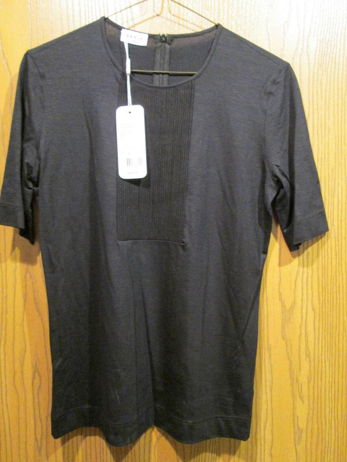 Akris Punto schwarz Stretch Crew Neck Top Shirt Größe 8