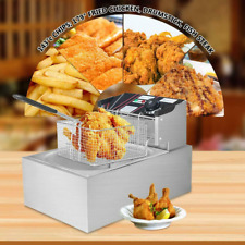 6l Electric Countertop Deep Fryer Commercial Restaurant Fried Food Cooker Device