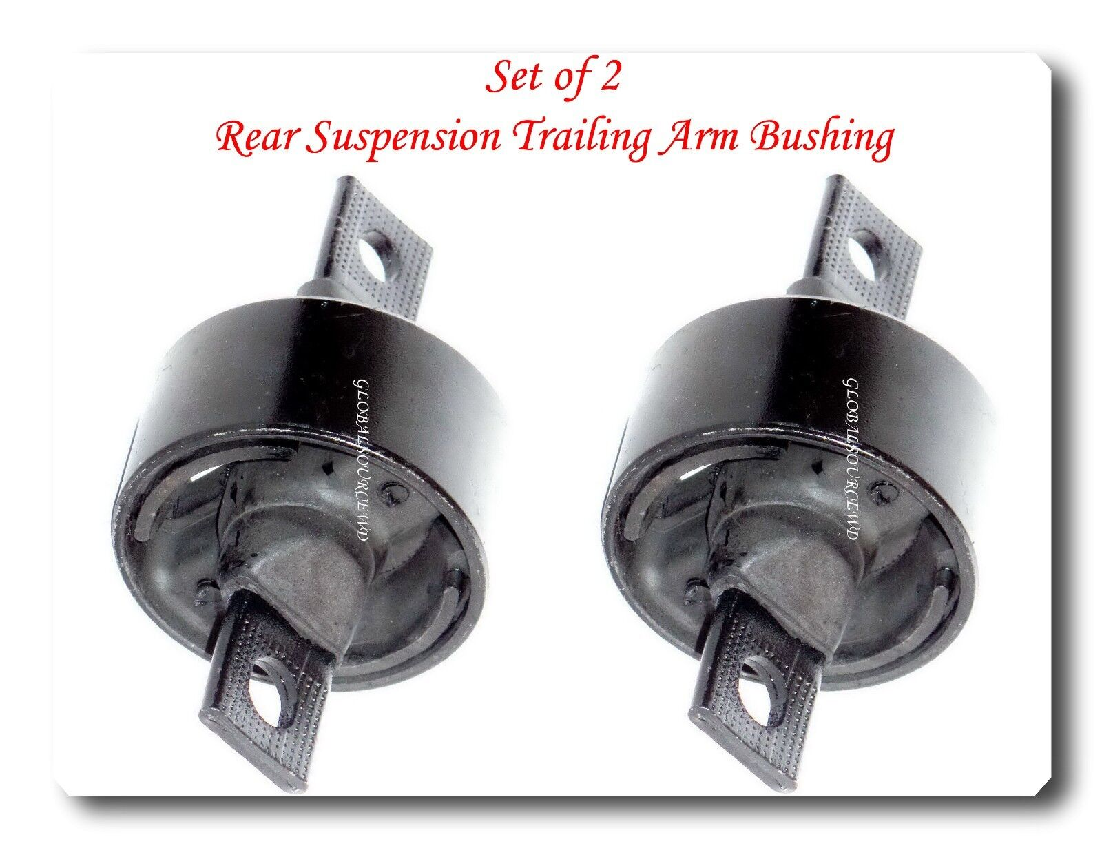 Set 2 Rear Suspension Trailing Arm Bushing Fits INTEGRA CIVIC DEL SOL CR-V CRX