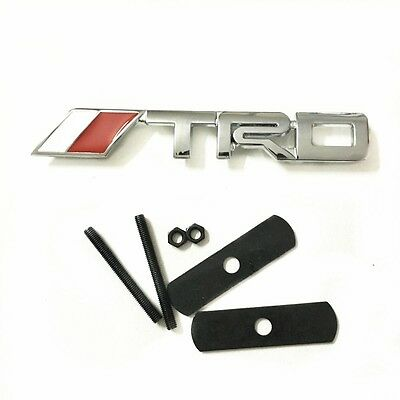 for Toyota TRD car front grill grille emblem badge chrome Camry Corolla RAV4