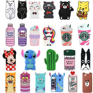 buy popular aabb4 2f50d Details about 3D Cute Cartoon Animal Soft Silicone Case Cover For Samsung  Galaxy S8 / S8Plus