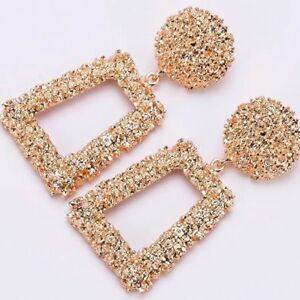 Zara-Gold-silver-red-yellow-wedding-blogger-style-drop-earrings-UK-seller
