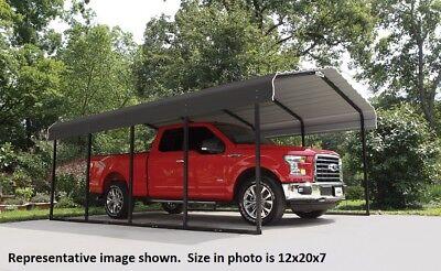 12x20x7 Arrow Shelterlogic Metal Carport Canopy Cphc122007 Wind Snow Rated Ebay