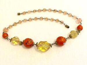 Fantastic-Vintage-1920s-Facet-Cut-French-Glass-Paste-Bead-Choker-Necklace