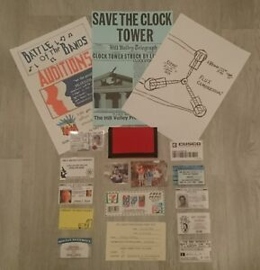 NEW-Back-To-The-Future-Prop-Replica-Marty-McFly-Zip-Wallet-amp-Clock-Tower-Flyer