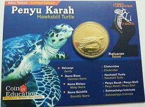 Willie-Malaysia-25-cent-Turtle-Karah-coin-card