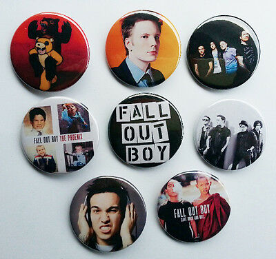 8 piece lot of Fall Out Boy pins buttons badges