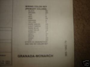 1978 ford granada monarch wiring diagrams ebay rh ebay com Ford F-250 Wiring Diagram ford granada mk1 wiring diagram