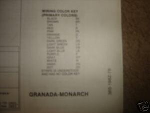 1978 ford granada monarch wiring diagrams ebay rh ebay com  ford granada mk2 wiring diagram