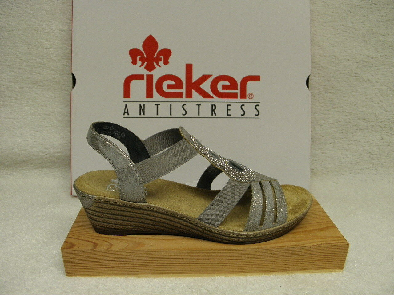rieker ® ROTuziert, Top Preis  grau Keil  62459-40  (R336)