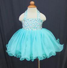 Infant/toddler/baby/children/kids glitz Girl's Baby Doll Glitz Pageant Dress