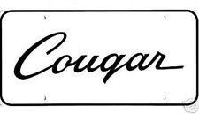 1969 1970 Mercury Cougar License Plate White