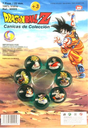 7 bolas de cristal 22mm Goku y Familia Canicas Dragonball Z 56589