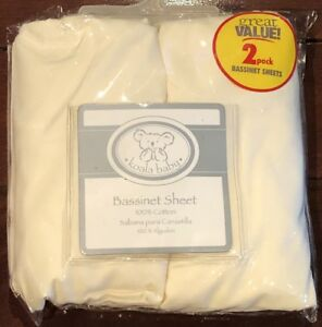 2-Pack-Koala-Baby-Bassinet-Sheets-in-220-TC-Thread-Count-100-Cotton-Fit-16-x-30