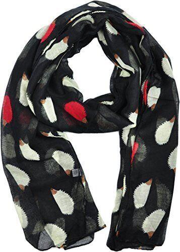 Hedgehog Animal Print Scarf Shawl Stole Wrap Sarong Cover-up Maxi Big Oversize
