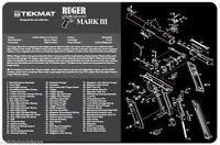 Tek-mat Ruger Mark Iii Mark 3 Armorers Bench Mat Exploded View Schematic