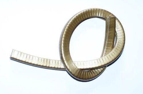Kederband mit Stahleinlage Klemmbereich 1-2mm Einfach zum Aufklemmen gold
