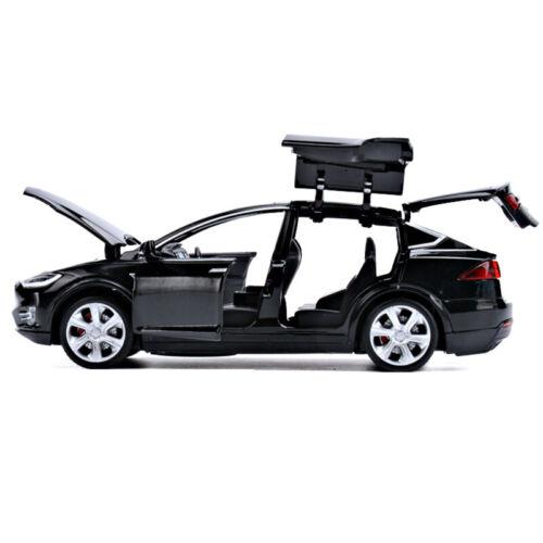 1:32 Tesla Model X 90D SUV Die Cast Modellauto Spielzeug Geschenk Schwarz