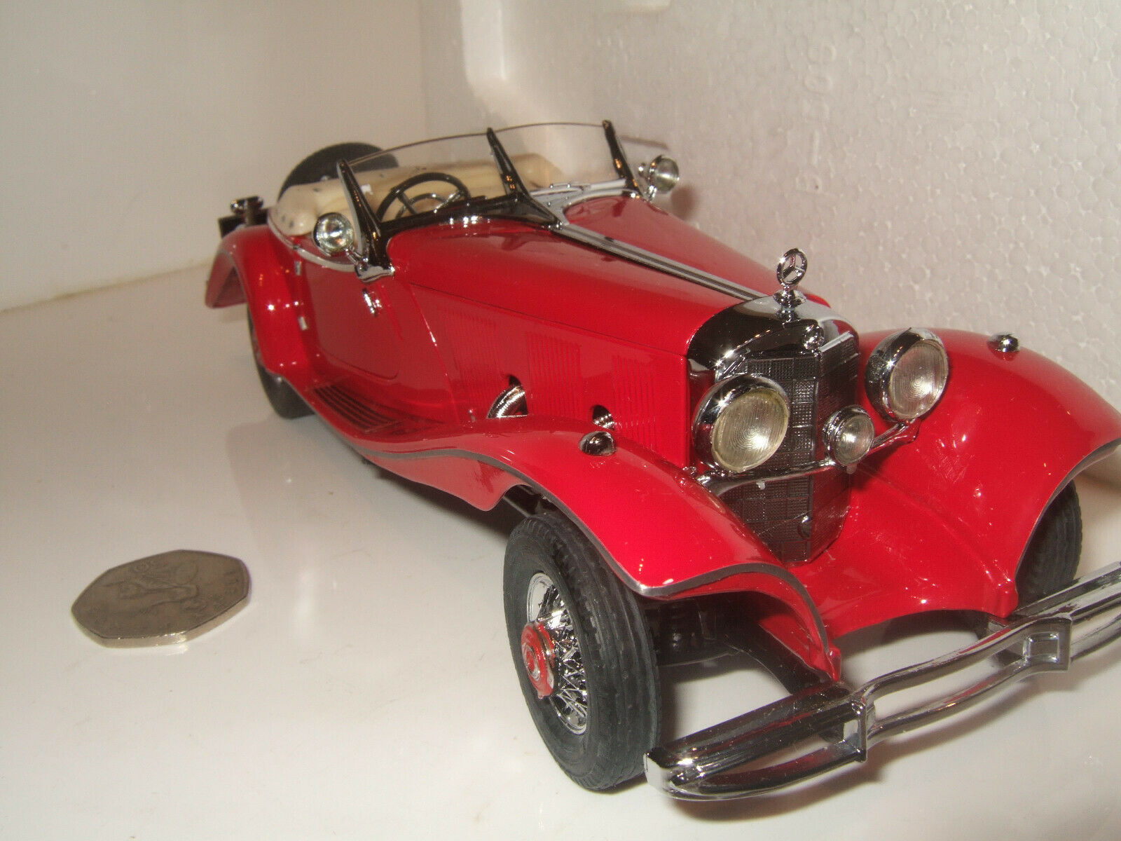 Rare Franklin Mint 1935 Mercedes Benz 500K Special Roadster in 1 24 Scale