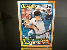 Rare Cal Ripken Jr Topps 1990 Card #8 Baltimore Orioles Record Breaker