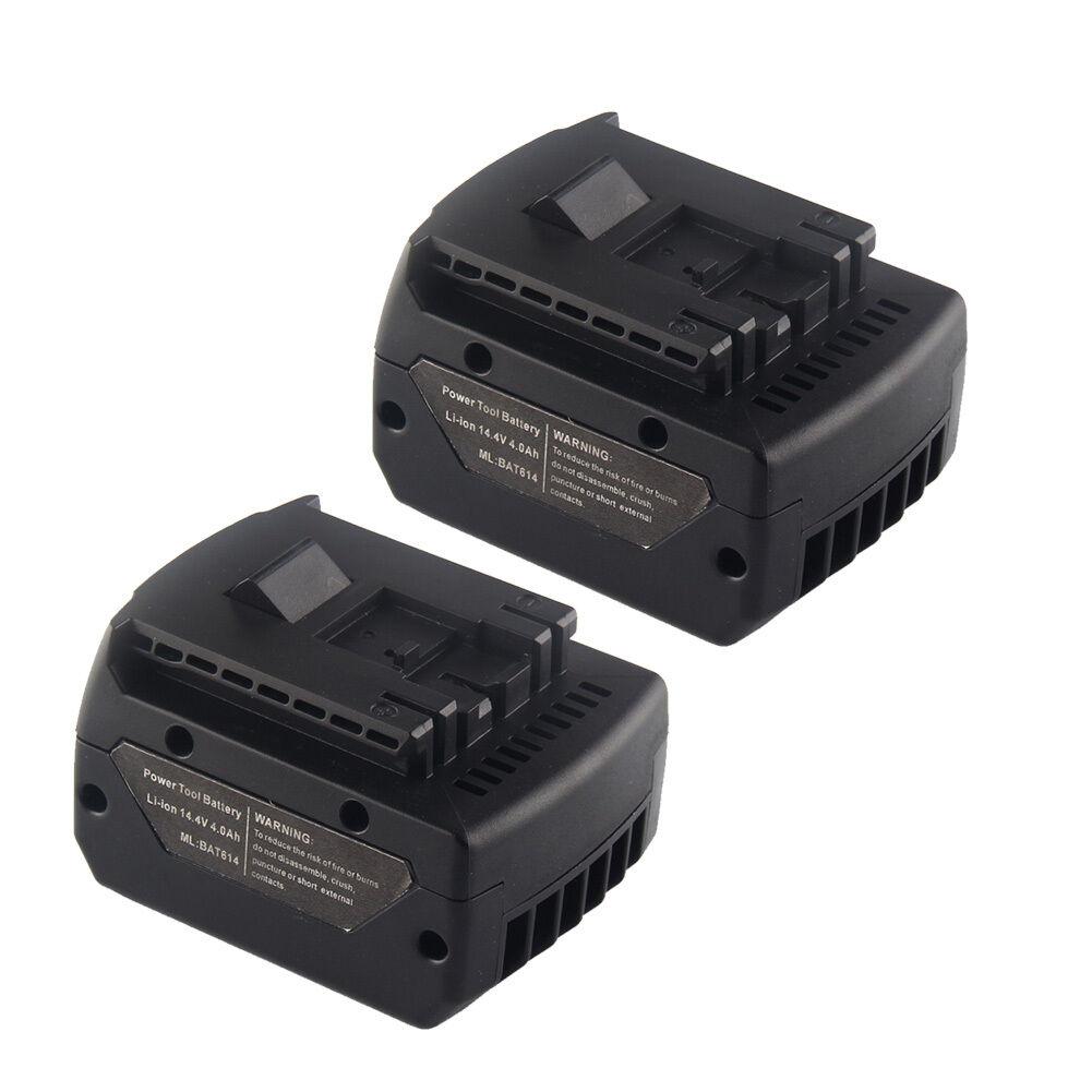 2x 14.4 Volt 4000mAh Battery for Bosch BAT614G BAT614 BAT607G BAT607 Power Tool