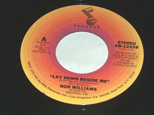 45 RPM Don Williams See You Again Down Beside Me 1978 ABC Vinyl Record 12458 M