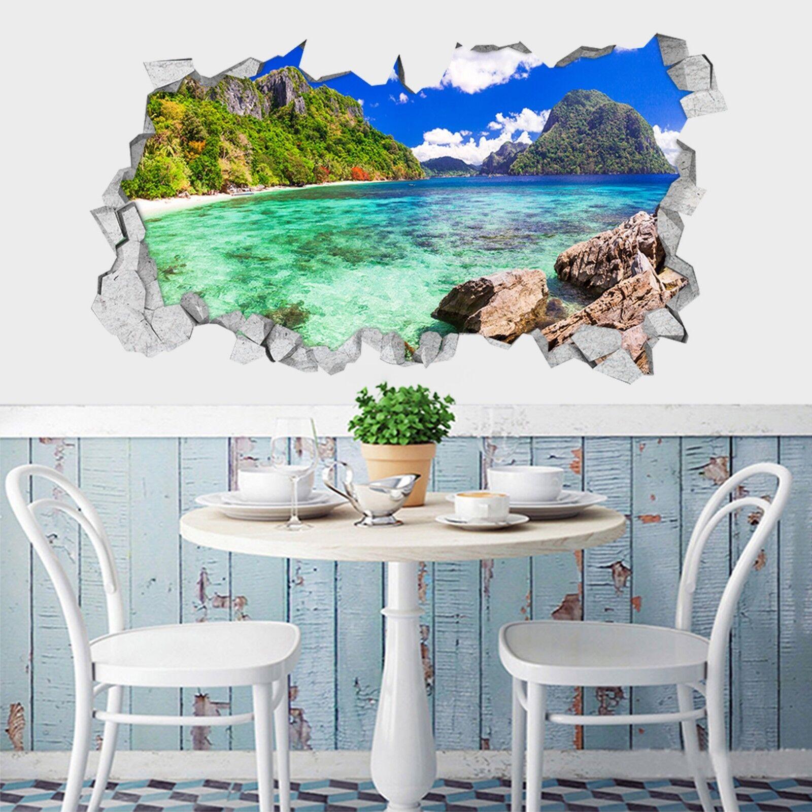 3D Tropische Bucht Mauer Murals Mauer Aufklebe Decal Durchbruch AJ WALLPAPER DE