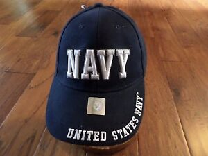 U.S Navy OFFICIALLY LICENSED With Seal NAVY LOGO on Bill  Baseball Cap Hat