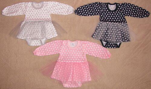 """Baby Body mit Röckchen /""""Laura/"""" Kleidchen Babybody Gr 62 68 74 80 86 Baumwolle"""