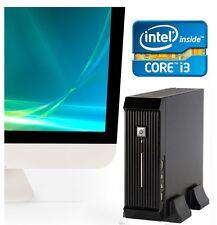 Intel Core i3 PC Slim SFF Compact Mini Computer HDMI 250GB 2x LAN Quad Display
