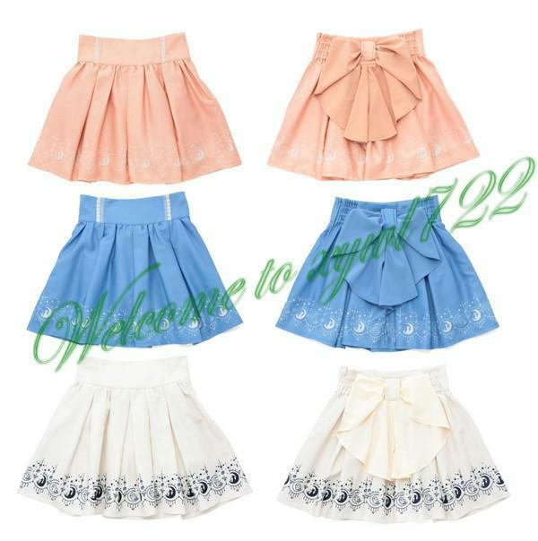 Sailor Moon 20th Anniversary Mini Skirt Pleated Skirt Big Back Bow Lolita New D