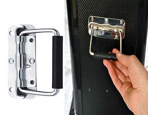 Steel Spring Loaded Handle Carry DJ Speaker Case Box Flight Chest Case Chest