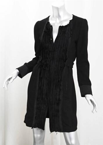 di nera Piccolo seta in con frontale Zucca da Sz lana in dettagli Cappotto giacca lana per di trench 8qTFx0nz