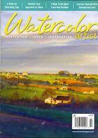 Watercolor Artist October 2016 Inspiration Ideas Instruction Sketching Tips