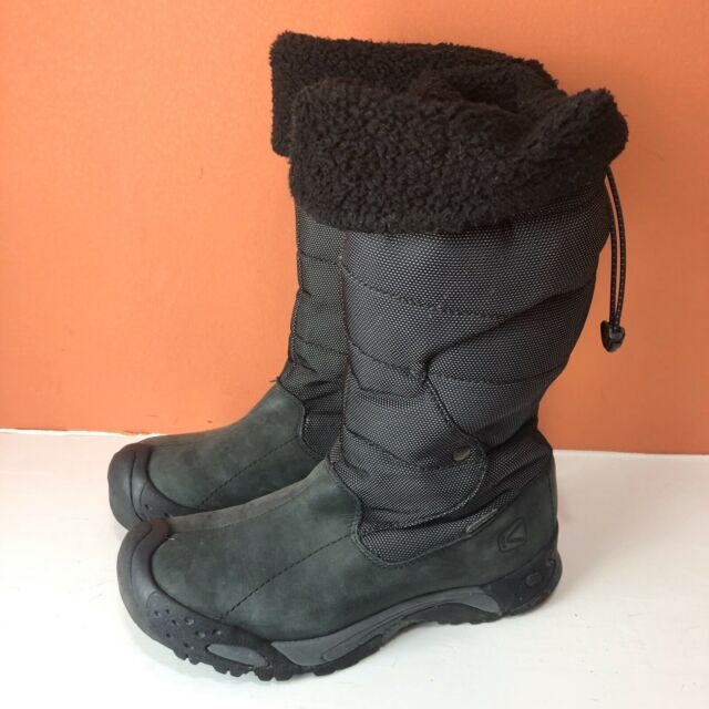 keen black leather boots