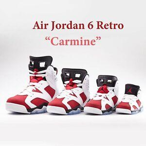 Air Jordan 6 Retro TD 'Carmine' 2021